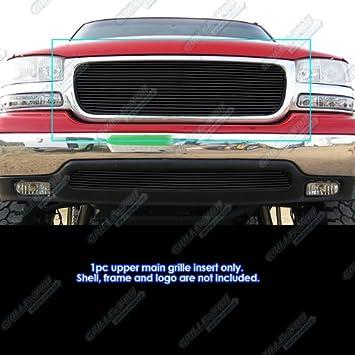 Amazon Com Aps Compatible With 1999 2002 Gmc Sierra 1500 2000 2006 Yukon 2001 2006 Yukon Denali Black Billet Grille Grill S18 H96358g Automotive