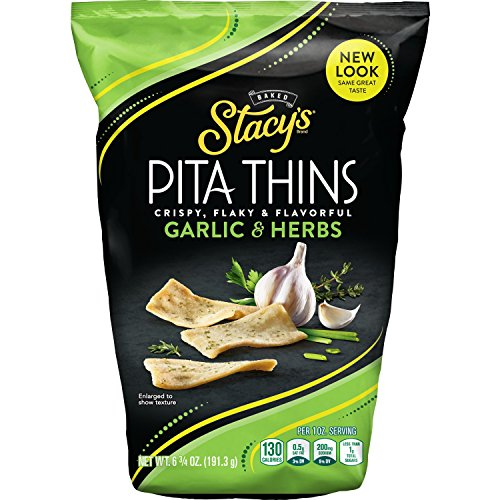 (Stacy's Garlic & Herb Flavored Pita Thins, 6.7 Ounce (Pack of 8))