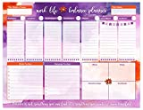 bloom daily planners Work/Life Balance Planning Pad - Tear Off Weekly Work and Personal To Do Pad - Planning System To Do Pad - 8.5'' x 11''