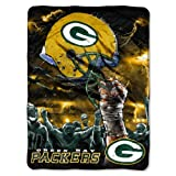 NFL Green Bay Packers 60-Inch-by-80-Inch Plush Rachel Blanket, Sky Helmet Design