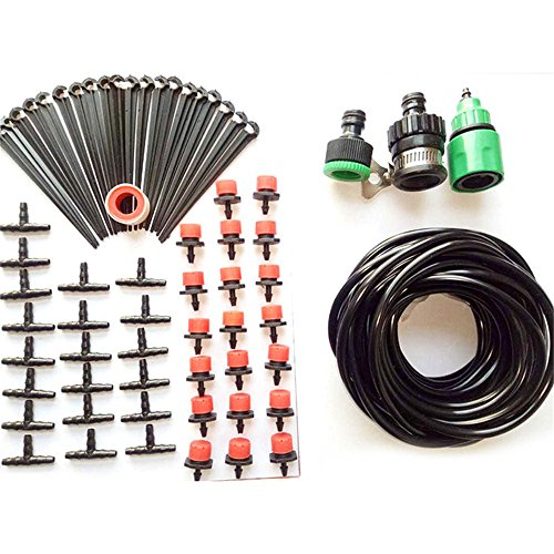 Irrigation Container Watering Kit, Plant Watering System, Automatic Container and Hanging Baskets Kit for Patio Garden Flower Plants ()