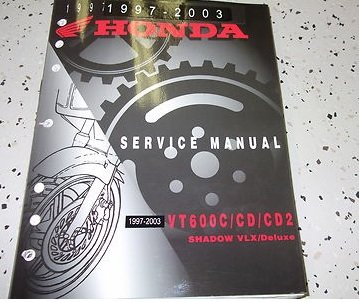 1997 1998 1999 2003 Honda VT600C/CD/CD2 Shadow VLX Deluxe Service Shop Manual (Shadow Vt600c)