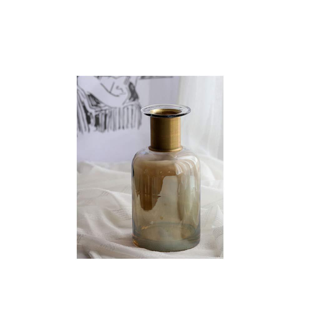 ガラス花瓶のリビングルームの家の装飾のカウンタートップ水耕植物花瓶 SHWSM (Size : 12×12×24cm) B07SR7NMMZ  12×12×24cm