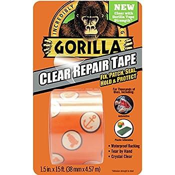 Gorilla 6015002 Repair Tape, 5-Yard, Clear