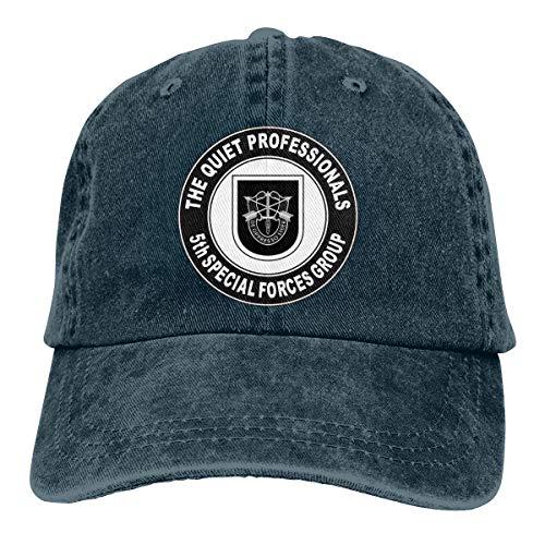 SLISL EIEI US Army 5th Special Forces Group Quiet Professionals Adjustable Baseball Caps Denim Hats Cowboy Sport Outdoor