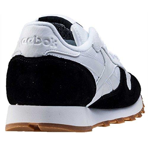 Cl gum White Leather Da black Sneakers Spp White Black Bianche Scarpe Ginnastica Gum Nere Reebok d6Uq5d