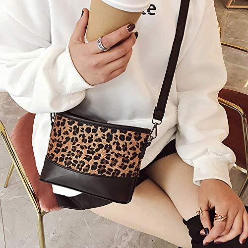 Tide Wild Fashion Piccolo a Plush Home Stampa Borsa Donna Messenger Bag The Brown tracolla Meidi Leopard Zipper Ladies Casual SwCTxqaBT