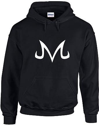 Majin Buu Corrupted Symbol Printed Hoodie Amazon Clothing