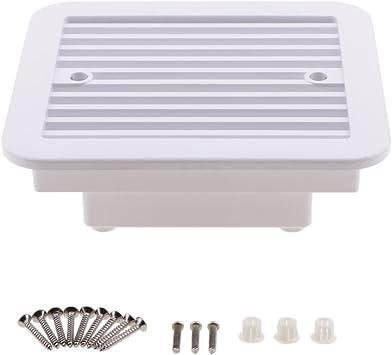 12V White RV Caravan Motorhome Side Air Vent Ventilation Air Fan Waterproof