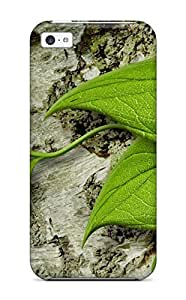 Flexible Tpu Back Case Cover For Iphone 5c - Sunbathing Tree Frog