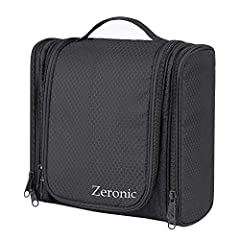 The toiletry bag is the great choice when packing for travel,summer vacations,bathroom organization,outdoors activities (camping,picnic,party).Its design is simple and stylish, with high standards of workmanship to ensure that your toiletry b...
