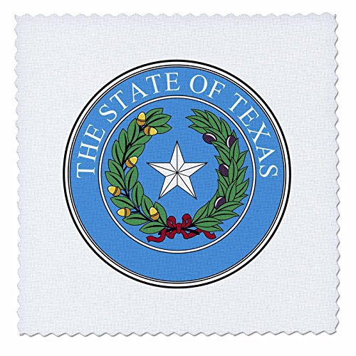 (3dRose qs_55337_1 State Seal of Texas PD-US Quilt Square, 10 by 10-Inch)
