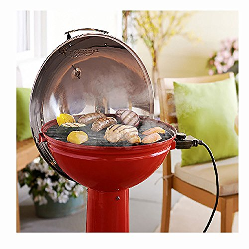 Masterbuilt Verdana Outdoor Patio 18 Inch 1650W Electric Pedestal Grill, Red by Regalo (Image #2)'