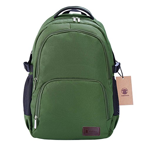 Price comparison product image Makimoo Laptop Backpack Travel College School Student Bookbag for Men Women - Army Green