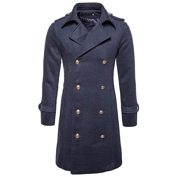 Acquista Vintage Cappotto Casuale Degli Uomini Giacche E Cappotti Di Lana Lungo Sottile Mens Doppiopetto In Lana Cappotti Di Inverno Del Rivestimento