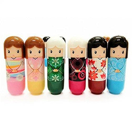 GuGio Cute Dolls Moisturizing Exfoliating Anti-Cracking Lip Balms & Moisturizers (Random Color, 1pc)
