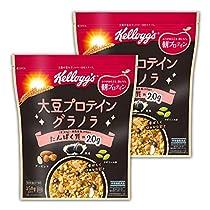【Amazon.co.jp限定】 ケロッグ 大豆プロテイングラノラ袋 350gx...