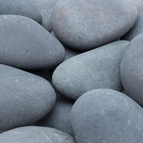 Rainforest Large Mexican Grey Beach Pebble 3 in. to 5 in.