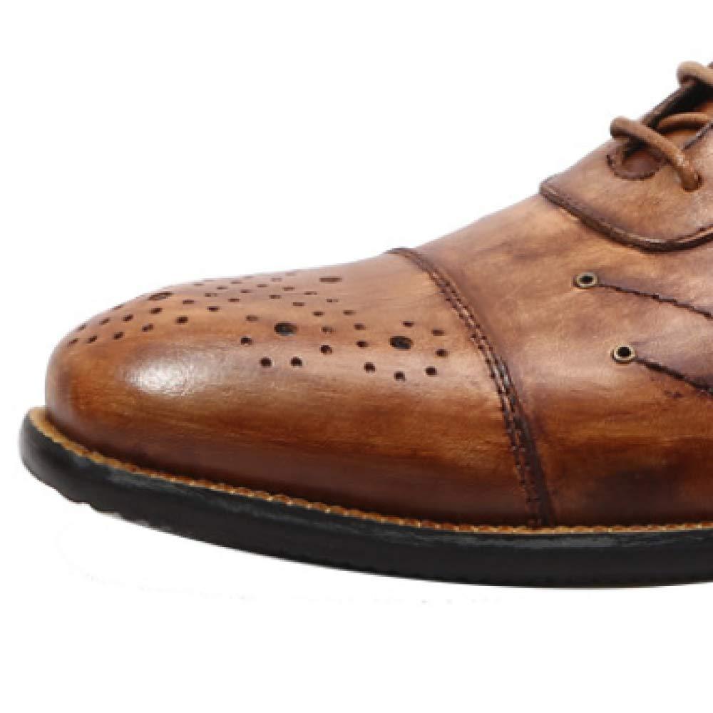 XDLJL England Vintage Spitze Geschnitzt Männer Leder Spitze Vintage Casual Vintageschwarz 81f9ab