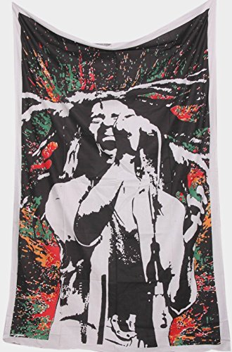 Bob Marley Poster Flag (World Wide Kart Loving Life Bob Marley Tapestry Wall Hanging Rastaman Reggae Tapestries Hippie Fabric Poster Wall Art Throw Table Cloth Yoga Mat Jamaican Tiger Face Tie Dye Boho Bohemian Rastaman)