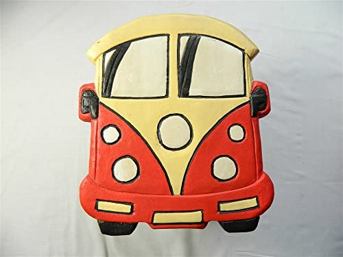 Thai Gifts Childrens Wooden Stool - Red Camper Van