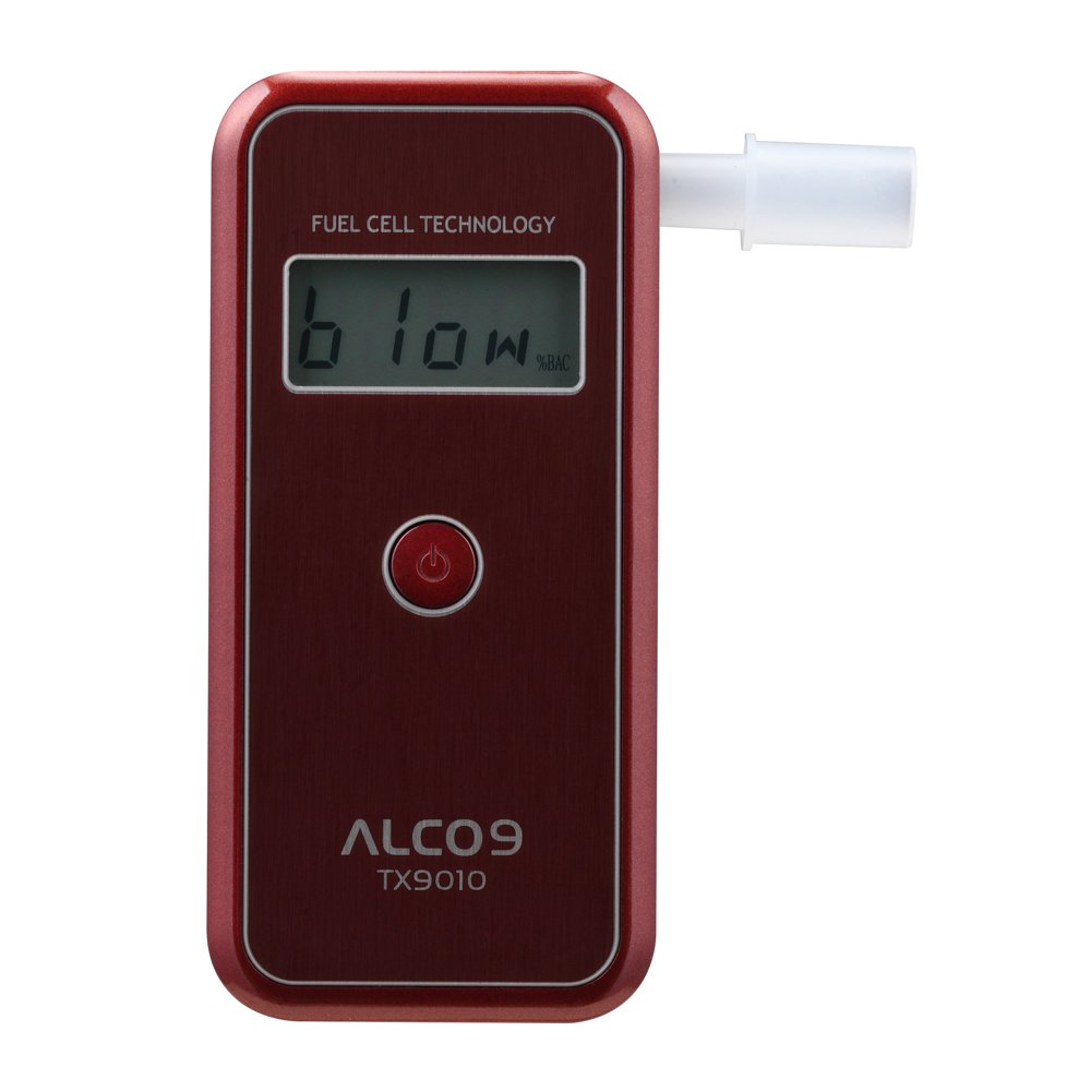 ALCO9 TX9010(aka AL9010) Fuel Cell Breathalyzer Portable Breath Alcohol Tester Detector with LCD Display by Sentech (Image #1)