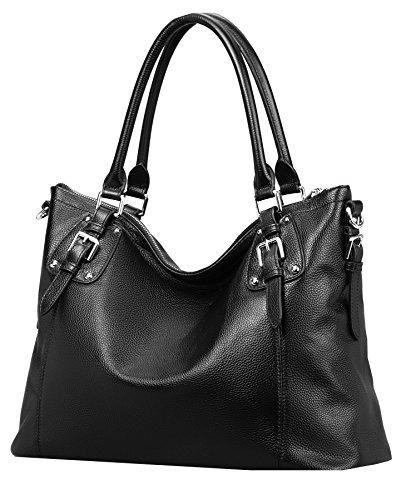 201834d5ae Heshe Womens Genuinne Leather Handbags Tote Top Handle Bag Shoulder Bag for  Women Crossbody Bags Ladies Designer Purse