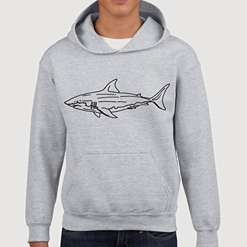 Great White Shark Kids Children Pullover Hoodie Hooded Sweatshirt Sweater Jumper Youth