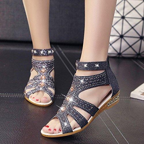 mujer para sandalias Thirty Sandalias calzado y eight plano fondo de antideslizante wq4RZw