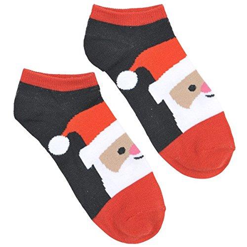 Smiling Santa Fabric Socks, 1 pair   Christmas Costume