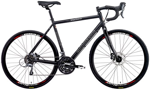 "Cheap 2018 Motobecane Turino ELITE Disc Shimano Claris STI 24 Speed Carbon Forks Disc Brakes Super Road Bike (Matt Black, 58cm – 5'11"" to 6'1″)"