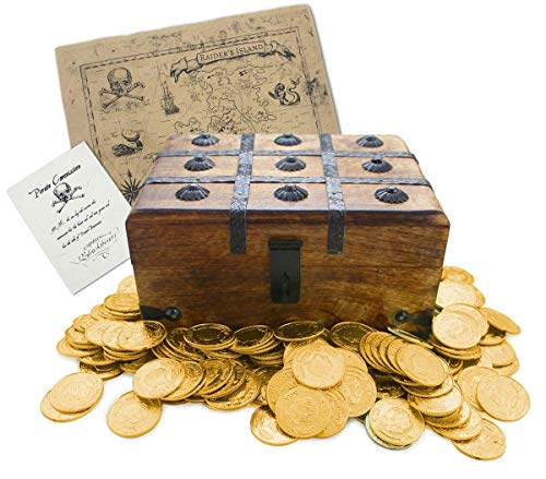 Well Pack Box Wooden Pirate Treasure Chest 9