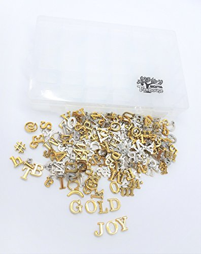 PRE-CUT GOLD Letters for Felt Letter Boards with FREE Organizer Box ~ 246 Characters, Numbers and Symbols ~ Changeable Letters for Felt Letter Boards by BRISTOL TREEHOUSE