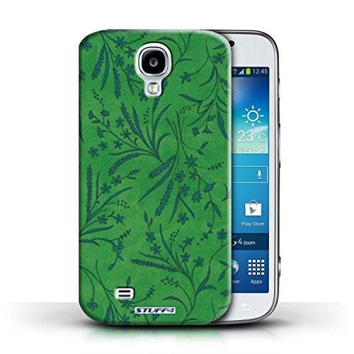 Etui pour Samsung Galaxy S4/SIV / Vert/Bleu conception / Collection de Motif floral blé