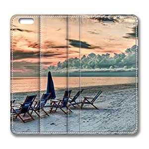 Brain114 6 Plus, iPhone 6 Plus Case, iPhone 6 Plus 5.5 Case, Seaside At Sunset PU Leather Flip Protective Skin Case for Apple iPhone 6 Plus 5.5
