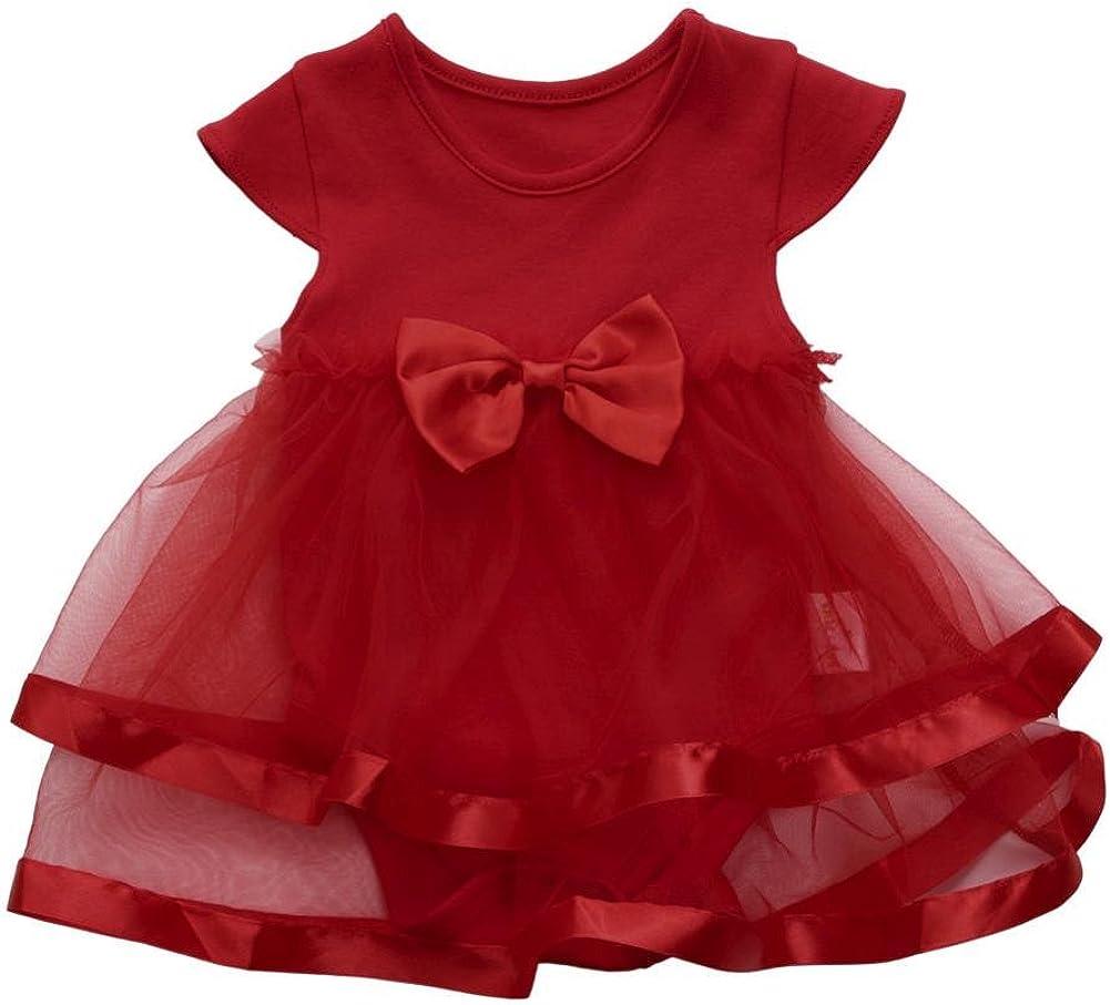 K-youth Vestido para Niñas, 2018 Ropa Bebe Niña Recien Nacida Vestido Bebe Chica Bowknot Florales Vestidos de Fiesta Princesa Tutú para 0-24 Meses
