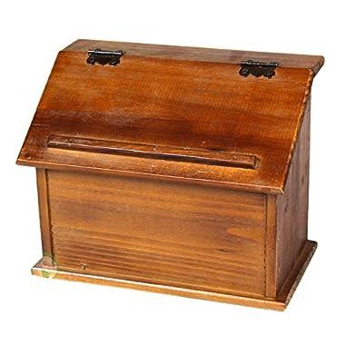 Vintiquewise(TM) Old Style Wooden Podium Recipe Box