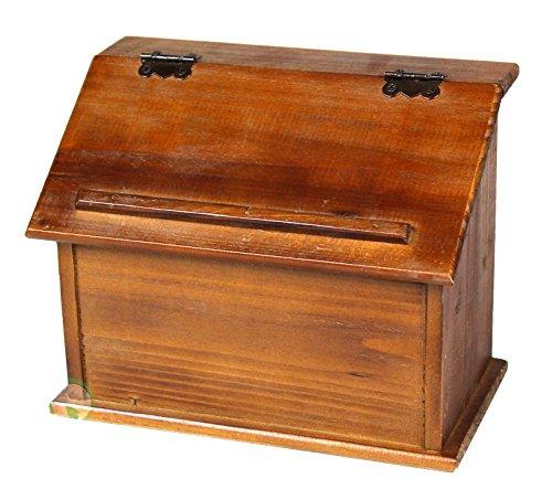 Style Wooden Podium Recipe Box ()