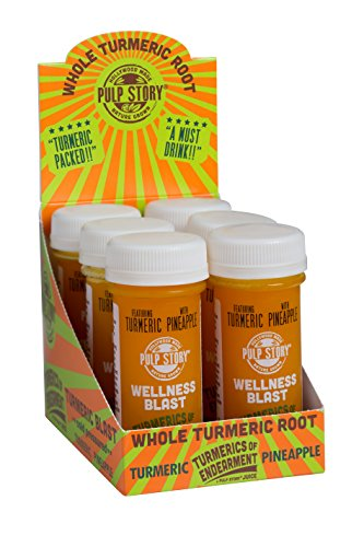 Cold Pressed Juice Shots - Pineapple & Turmeric Juice - Organic Health & Wellness Blast - Turmerics Of Endearment - 2 Oz Single Servings, 6 Count - By Pulp ()