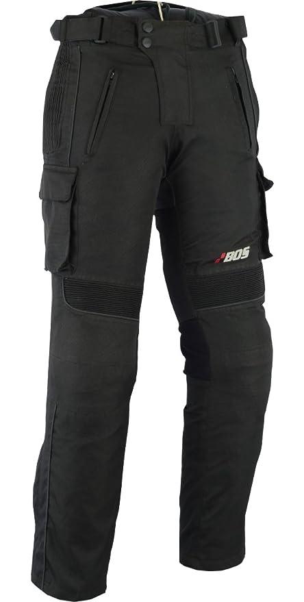 L BOS Motorradhose Textil Schwarz Gr