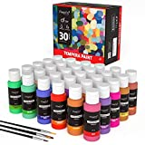 Magicfly Tempera Washable Paint 30 Colors, Kids Paint Set with Flourescent, Glow in