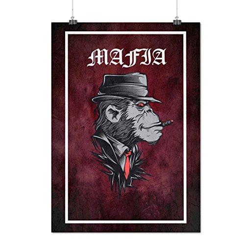Mafia Monkey Gangster Matte/Glossy Poster A3 (42cm x 30cm)   (True Blood Costumes Uk)