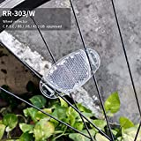 BSK 4 Pcs White(Clear) Bicycle Wheel Reflectors