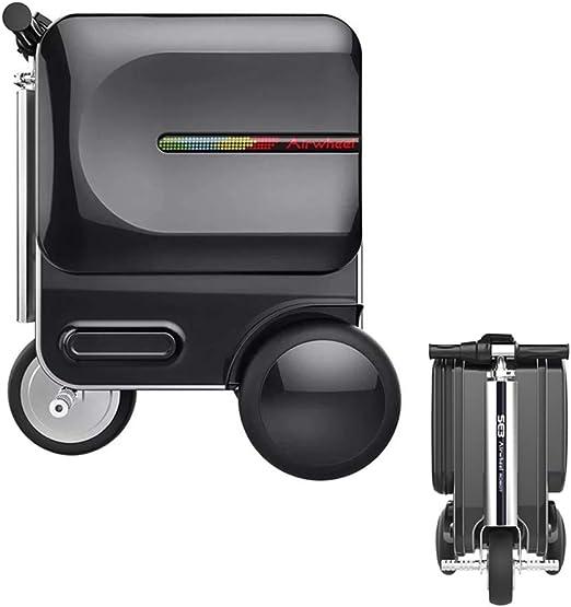 Bicicleta eléctrica de la maleta del viaje, coche elegante eléctrico plegable del equipaje, maleta multifuncional con la cerradura de la contraseña de TSA, para el aeropuerto y la escuela,Black: Amazon.es: Hogar