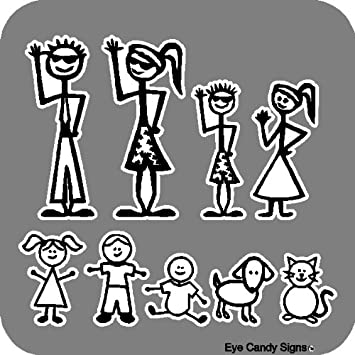 Amazoncom  Stick People Family Car Decals Stickers Graphics Item - Family decal stickers for cars