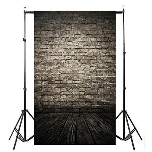 YJYDADA Vinyl Wood Wall Floor Photography Studio Prop Backdrop Background 3x5FT(90X150cm) (A)