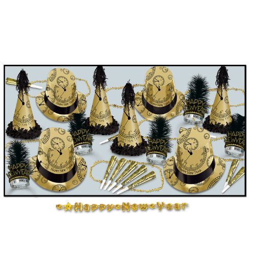 Beistle 88446BKG50 The Gold Midnight Party Favors, 1 Assortment Per Package by Beistle