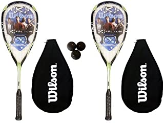 2 X Wilson K Rush Raquette de Squash 3 balles RRP £ 190 de Squash