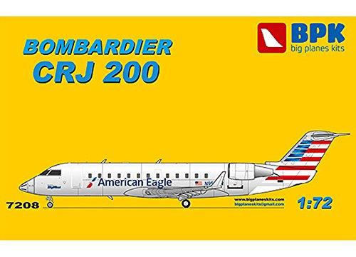 ビッグプレーン 1/72 ボンバルディアCRJ200アメリカンイーグル航空 プラモデル
