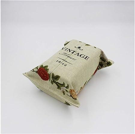 Yanshan Estuche para servilletas de Papel con diseño Floral Estuche de Papel para el hogar y la Oficina (Beige): Amazon.es: Hogar